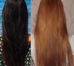 Как сделать смывку для темных волос 914