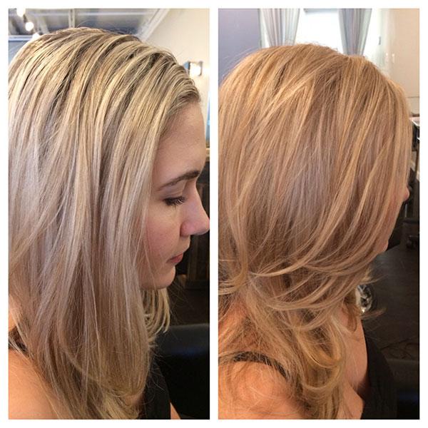 Мелирование с тонированием фото на длинные волосы