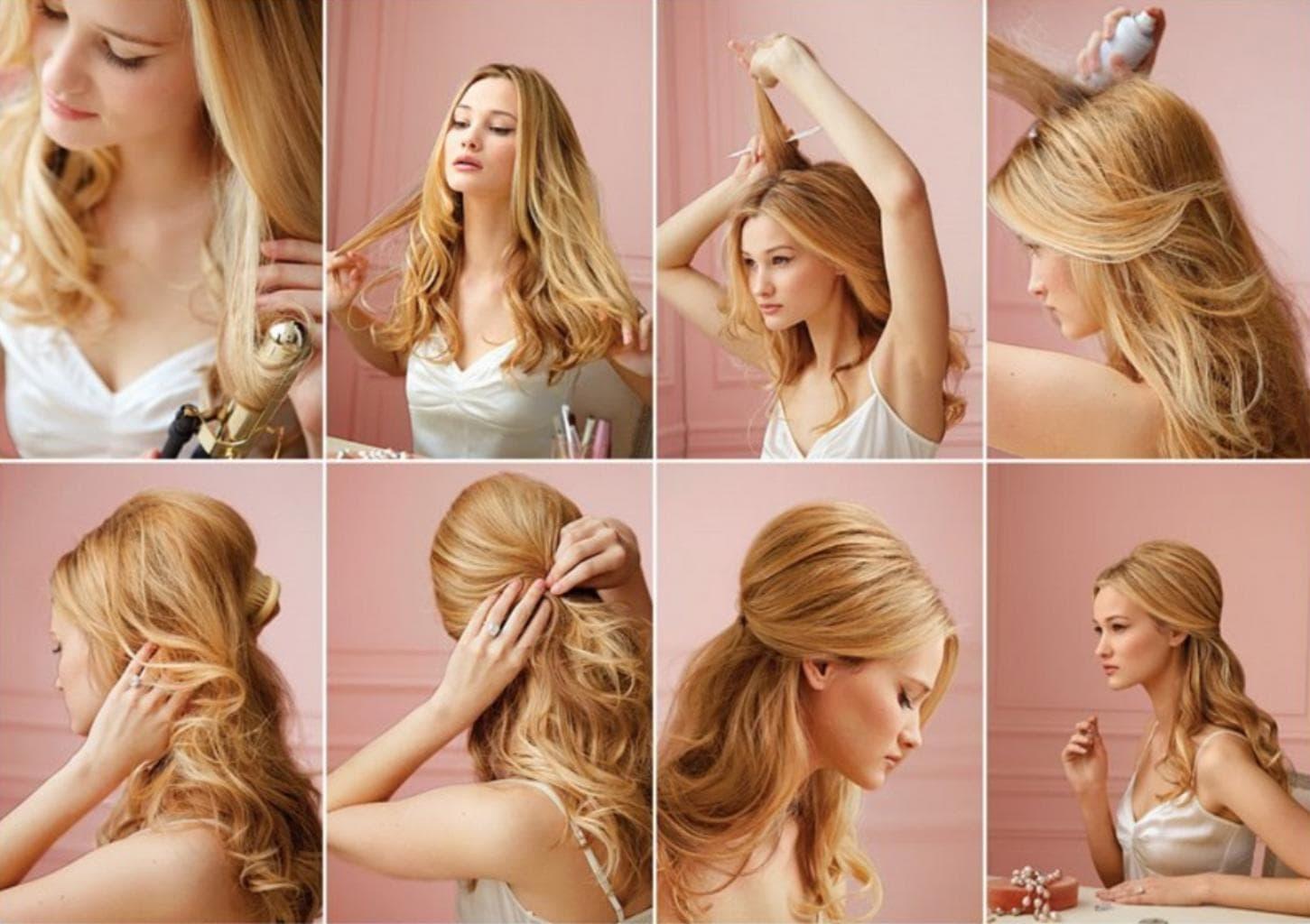 Эффект мокрых волос на короткие