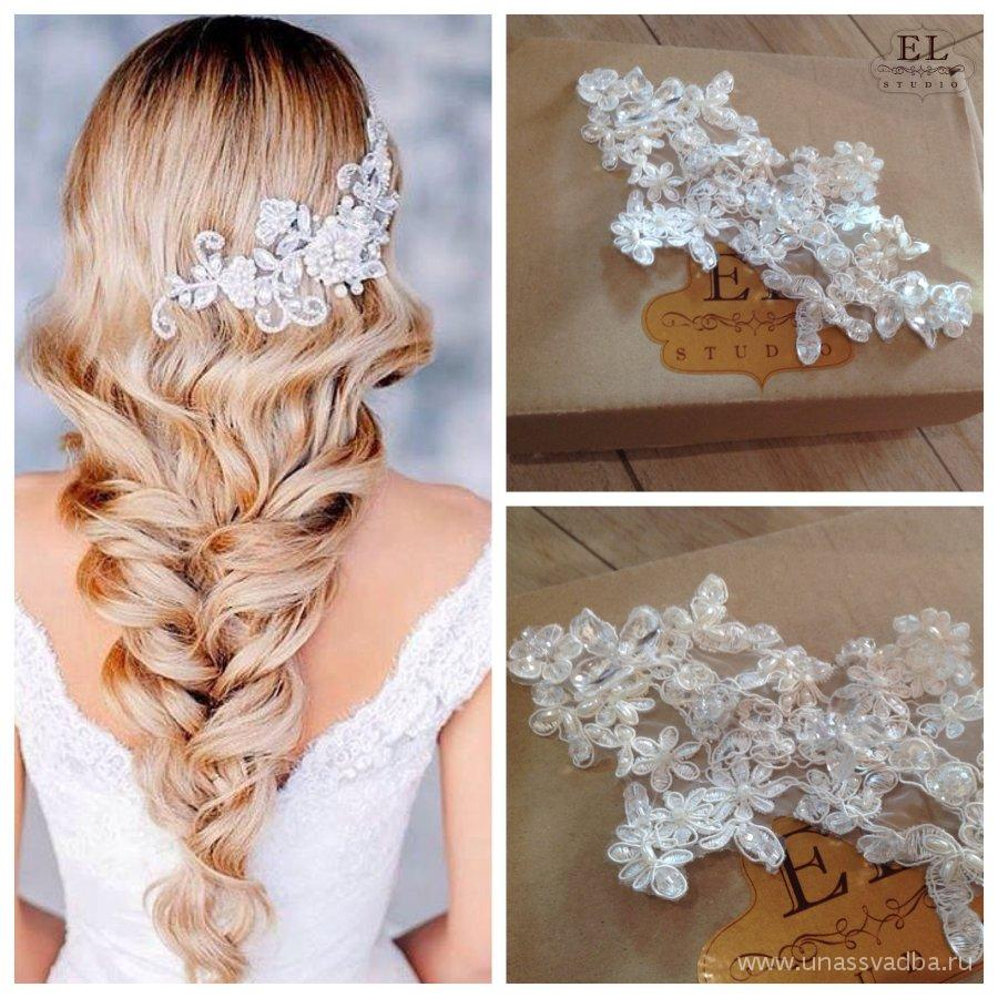 Как сделать свадебное украшение для волос своими руками