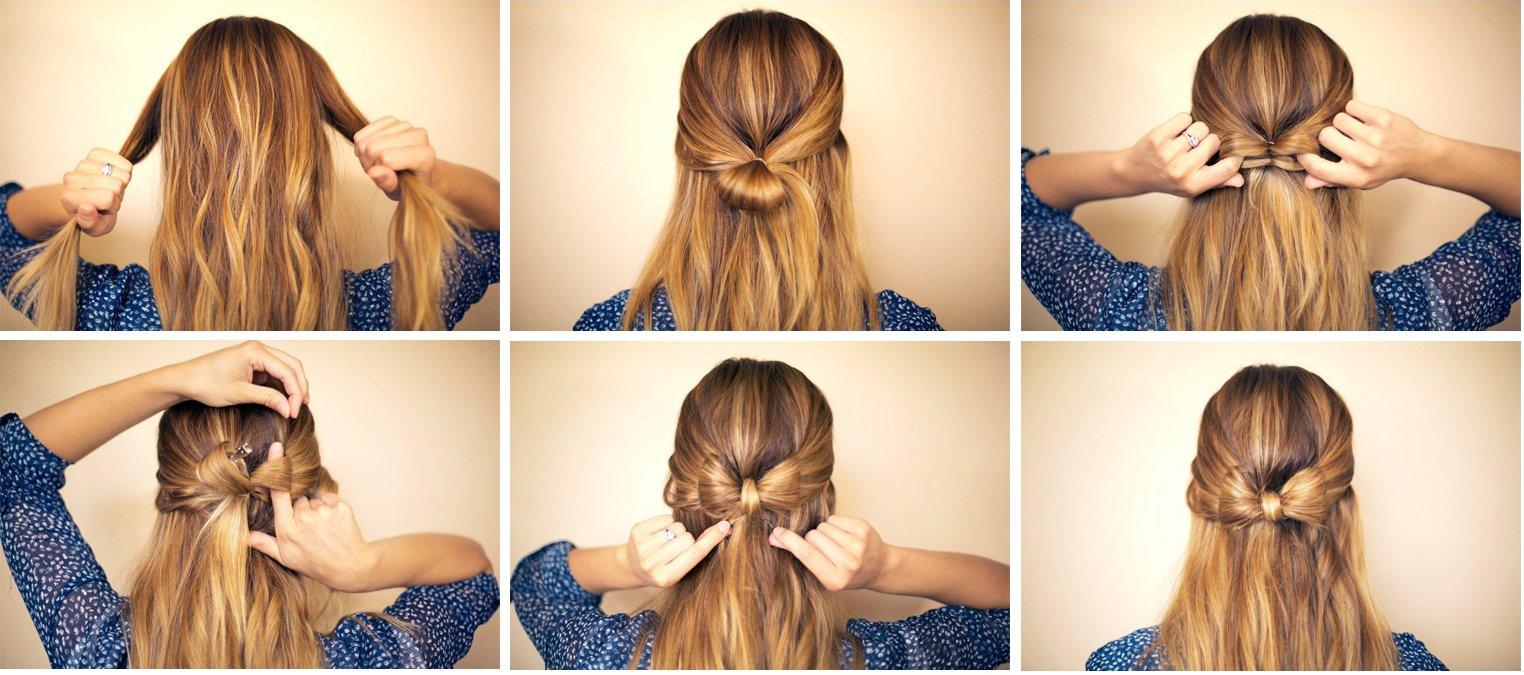 Красивые прически для средних волос своими руками 42