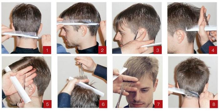 Как сделать стрижку модельную мужчине 991