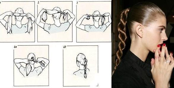 Как сделать жгутики на волосах 785
