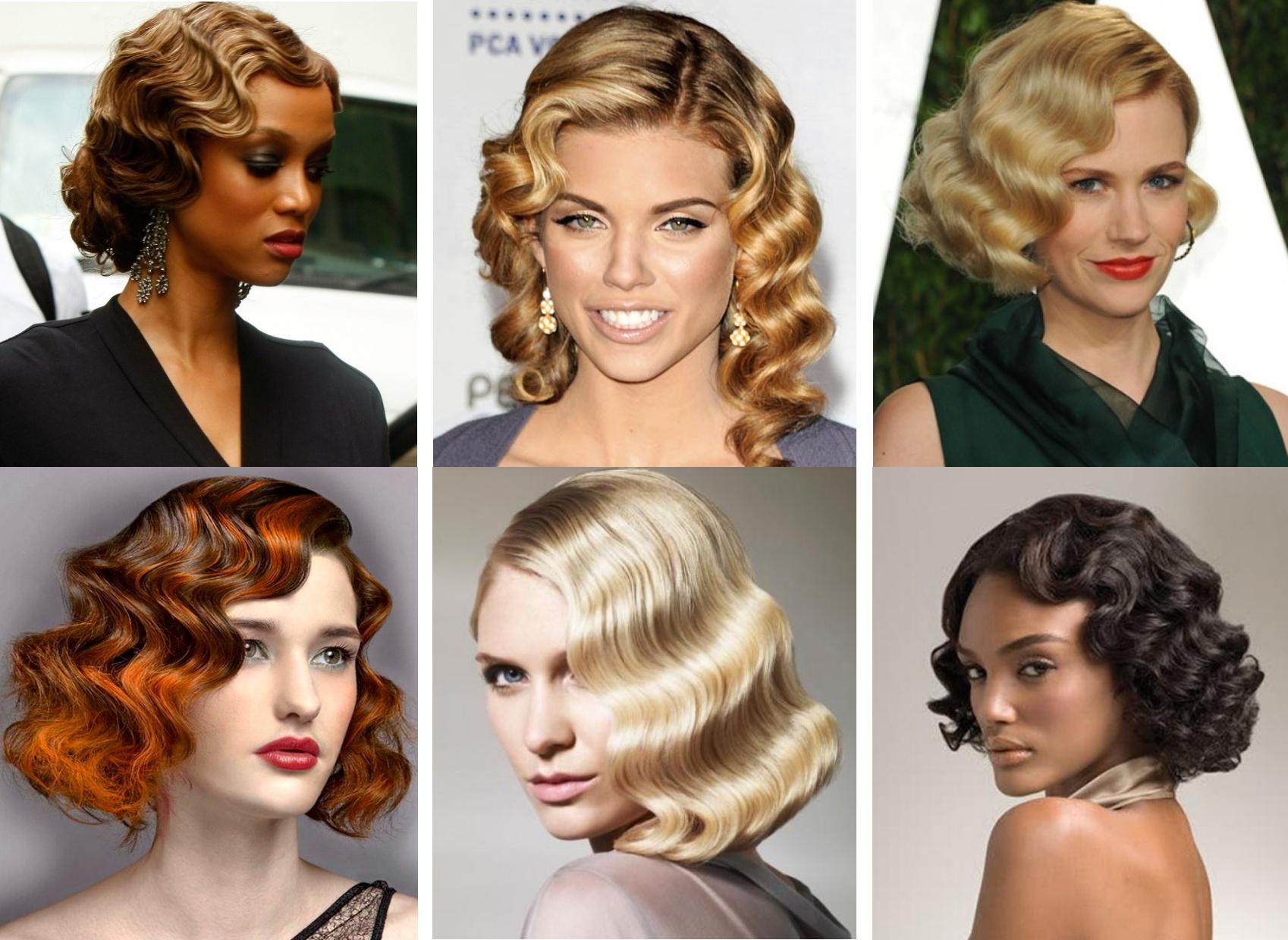 Как сделать укладку волна на средние волосы
