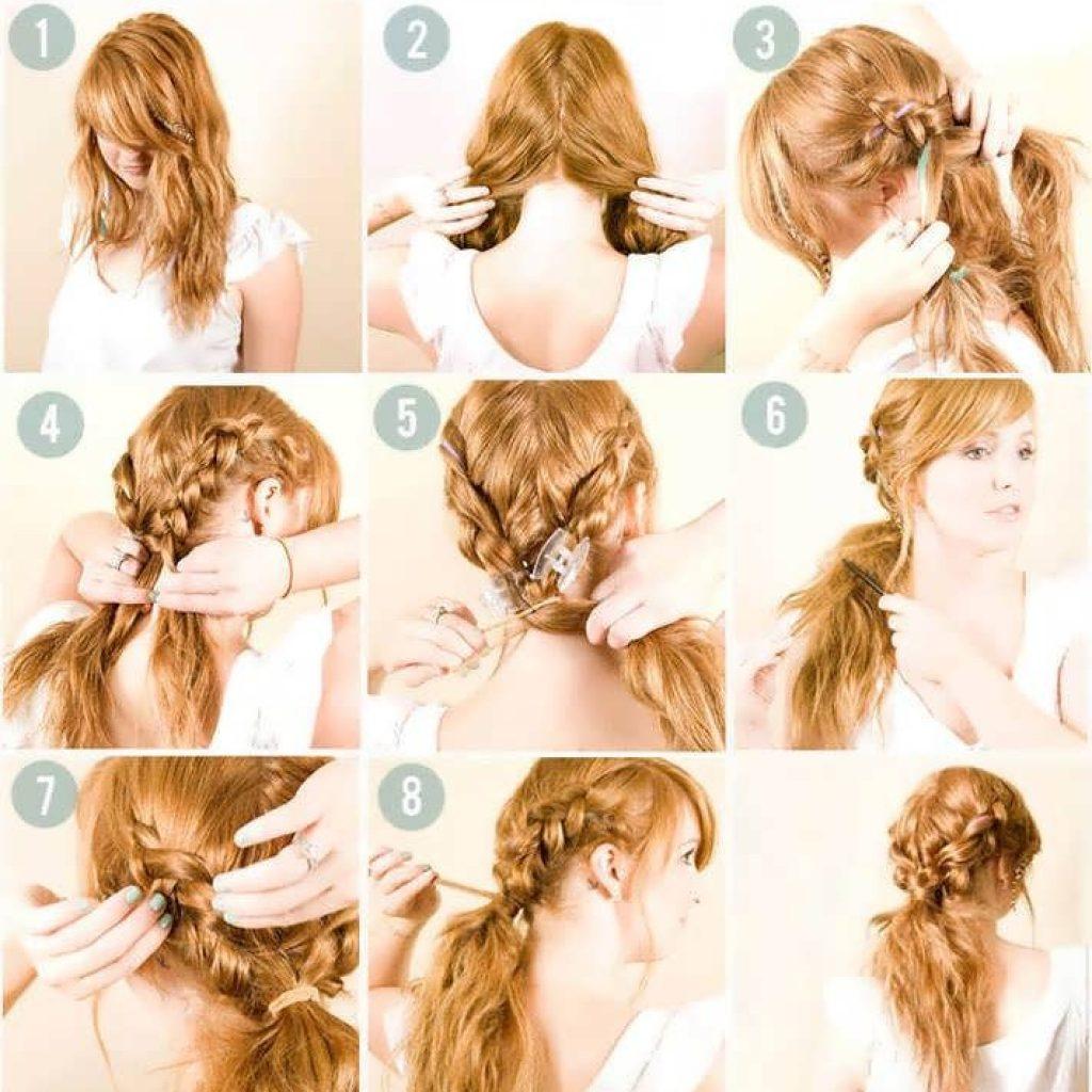 Прически из длинных волос на каждый день своими руками фото